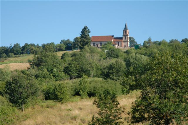 The church of St-Gilles, just above the village of St-Pierre-Bois and Thanvillé